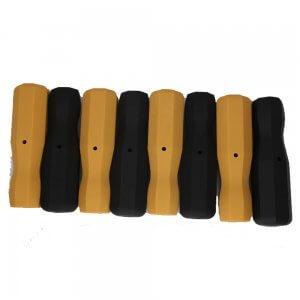 Tornado 8 Foosball Plastic Handles - Black & Yellow