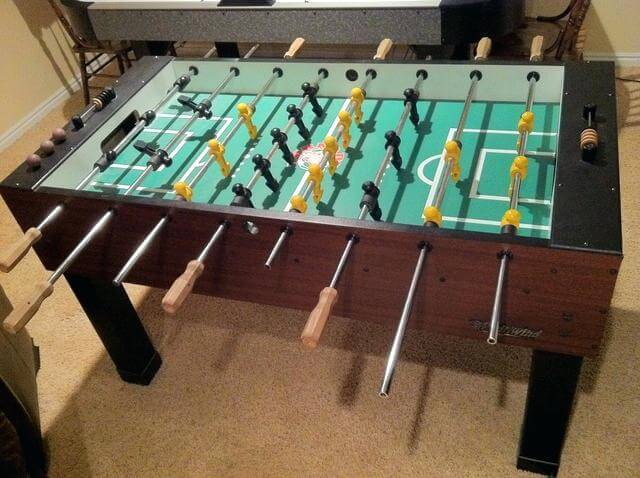 tornado sport foosball table from above